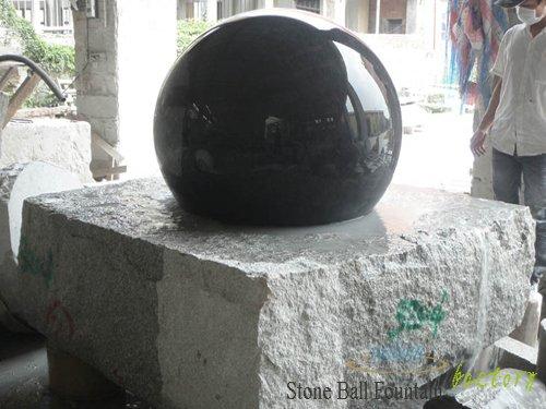Black Stone Ball Fountain