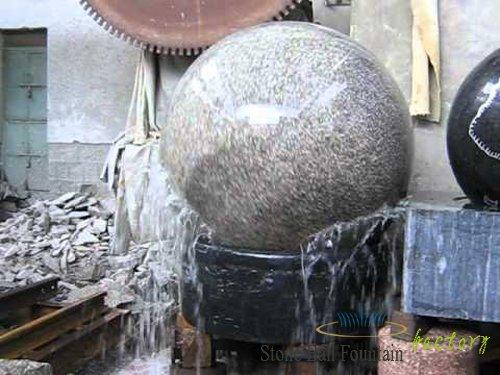 Grey Stone Ball Fountain