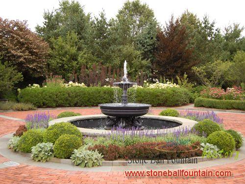 Stone Tiered-Garden Fountains