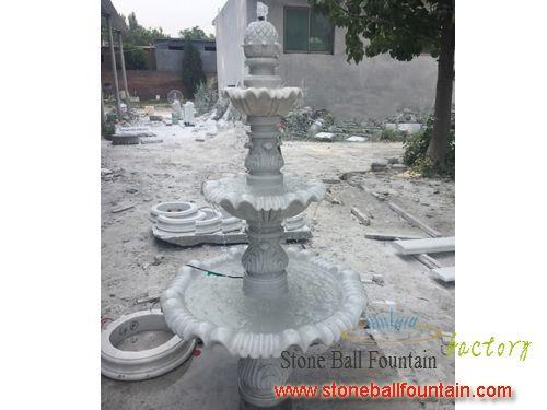 White Three Tier Fountain For Gardens