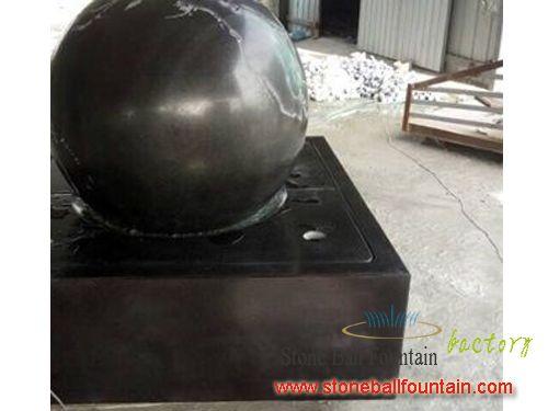 Black Stone Rotating Ball Fountain