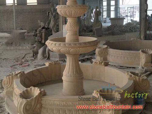 Beige Garden Sandstone Fountains