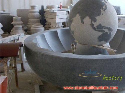 G654 Granite Rolling Sphere Fountain