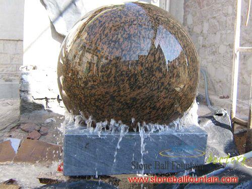 Polish Cheap Yellow Granite Ball Fountain