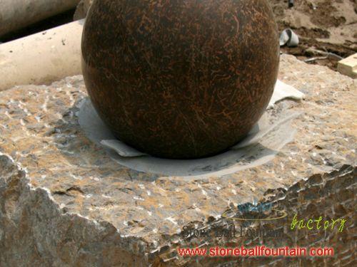 Yellow Granite Floating Ball Fountain