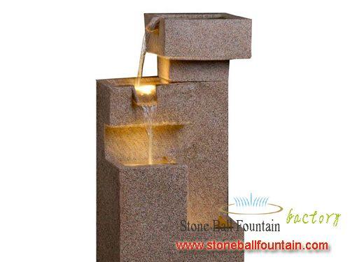Yellow G682 Granite Freestanding Fountain