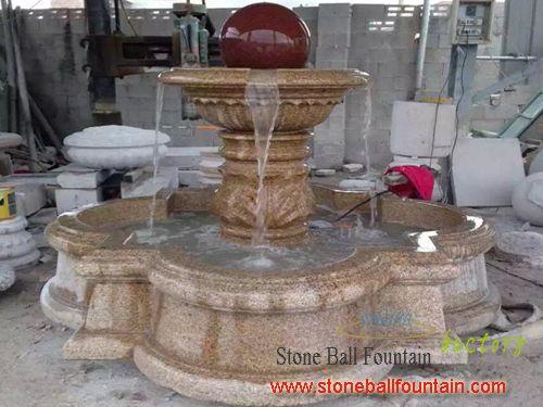 Cheap G682 Granite Ball Fountains