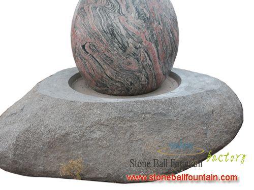Rotating Juparana Granite Sphere Fountain