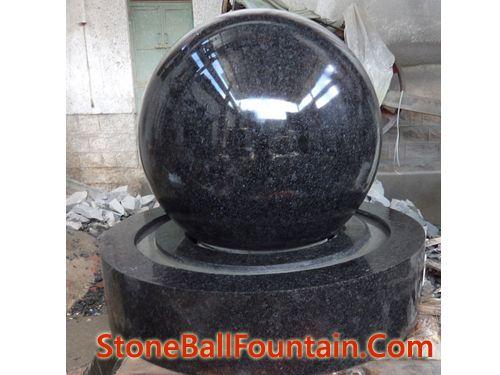 China Black Granite Ball Fountains