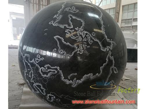 Floating Black Granite Ball Fountain