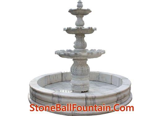 Guangxi White Marble Water Fountain