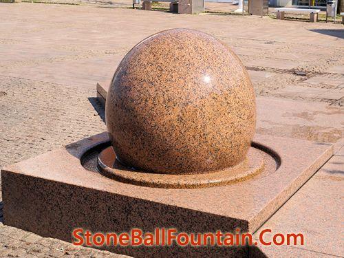 Large Stone Ball Fountain