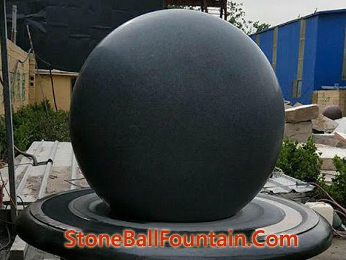 Matt Dark Grey Stone Ball Fountain