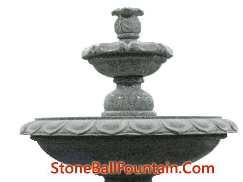 Sesame White Granite Pedestal Fountain