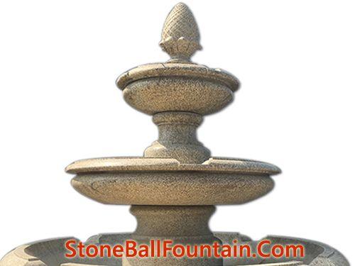 Yellow Golden Granite Tiered Stone Fountain
