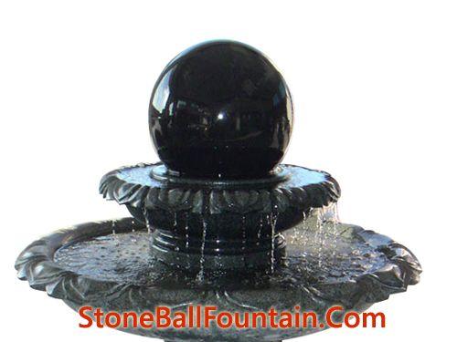 G654 Grey Rolling Granite Ball Fountain