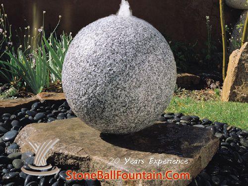 Granite Sphere Water Feature Colors Choose