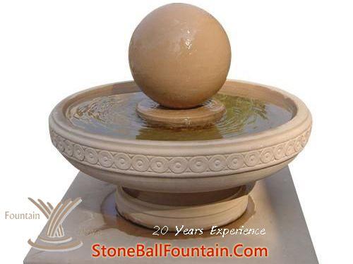 Beige Sandstone Sphere Water Fountain
